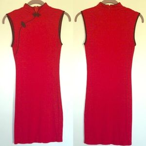 Forever 21 Red Chinese Qipao Style Mini Dress